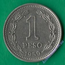 1 песо 1959 року Аргентина