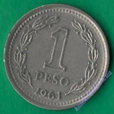 1 песо 1961 року Аргентина