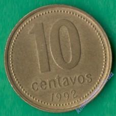 10 центаво 1992 року Аргентина