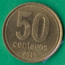 50 центаво 2010 року Аргентина