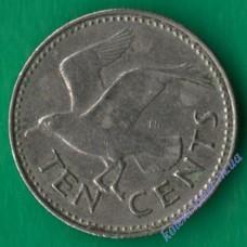 10 центов 1984 года Барбадос