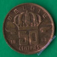 50 сантим 1983 года Belgie