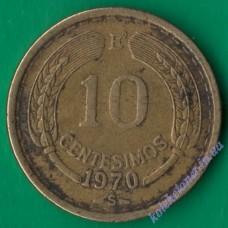10 сентесимо 1970 года Чили