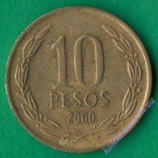 10 песо 2000 года Чили