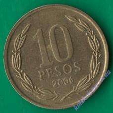 10 песо 2006 года Чили