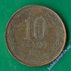 10 песо 2007 года Чили