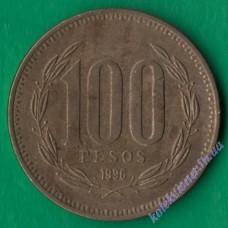 100 песо 1996 года Чили