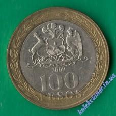100 песо 2009 года Чили