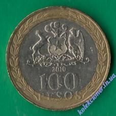 100 песо 2010 года Чили