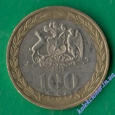 100 песо 2013 года Чили