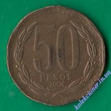 50 песо 2006 года Чили