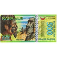 500 ронго 2012 року UNC Острів Пасхи