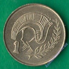 1 цент 2004 года Кипр