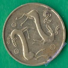 2 цента 1993 года Кипр
