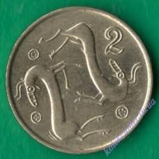 2 цента 1996 года Кипр