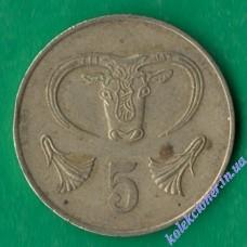5 центов 1983 года Кипр