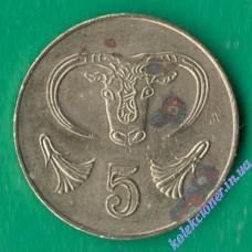 5 центов 2004 года Кипр