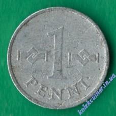 1 пенни 1970 года Финляндия