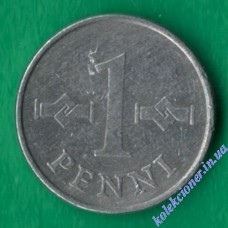 1 пенни 1974 года Финляндия