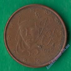 1 евроцент 1999 года Франция