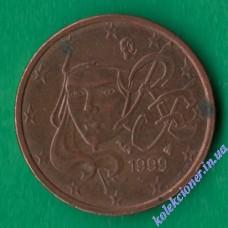 2 евроцента 1999 года Франция