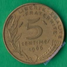 5 сантим 1966 года Франция