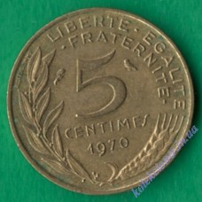 5 сантим 1970 года Франция