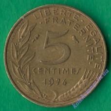 5 сантим 1974 года Франция