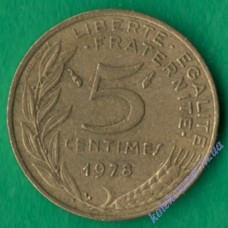 5 сантим 1978 года Франция