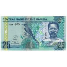 25 даласи UNC Гамбия