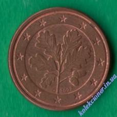 1 євроцент 2002 року D Німеччина
