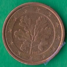 1 евроцент 2002 года F Германия