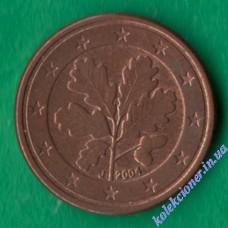 1 евроцент 2004 года J Германия