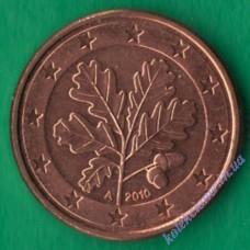 1 євроцент 2010 року A UNC Німеччина