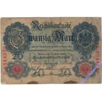 20 марок 1910 года Германия