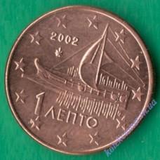 1 евроцент 2002 года UNC Греция