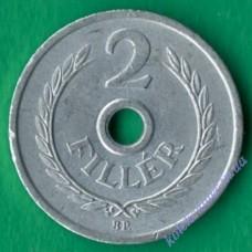 2 филлера 1972 года Венгрия