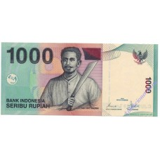 1000 рупий 2000 года UNC Индонезия