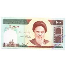 1000 риалов 1992 года UNC Иран
