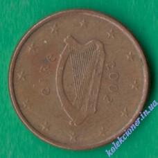 1 евроцент 2002 года Ирландия