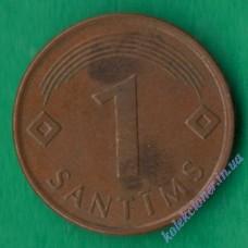 1 сантим 1997 года Латвия