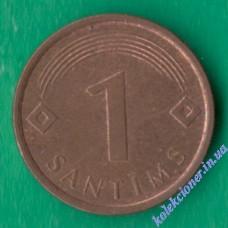 1 сантим 2007 года Латвия