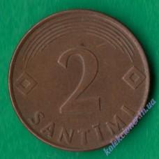 2 сантима 2000 года Латвия