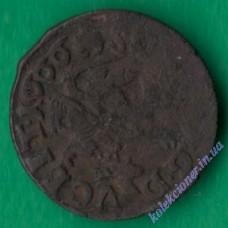 Шилінг (боратинка литовська) 1666 року. Ян Казимир #1