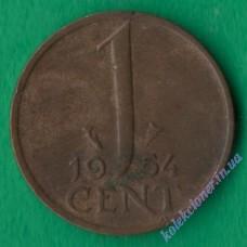 1 цент 1954 года Нидерланды
