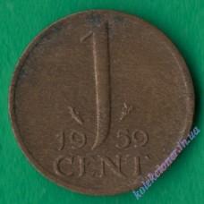 1 цент 1959 года Нидерланды