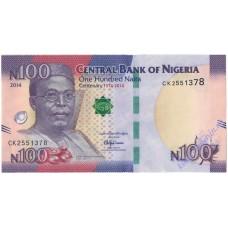 100 найра 2014 года UNC Нигерия