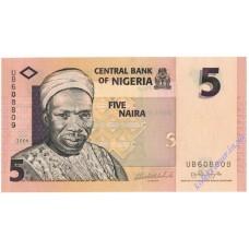 5 найра 2006 года UNC Нигерия