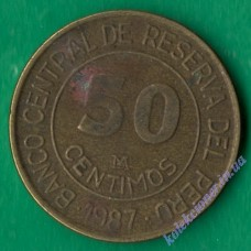 50 сентимо 1987 года Перу