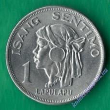 1 сентимо 1968 года Филиппины